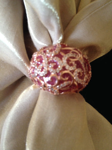 18K Rose Gold Baroque Inspired Ring