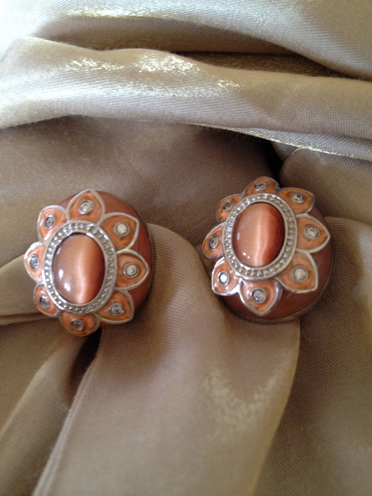 Flower Drop Post with Clip Earrings
