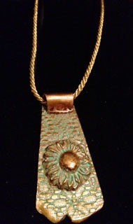 Copper Sunflower Pendant