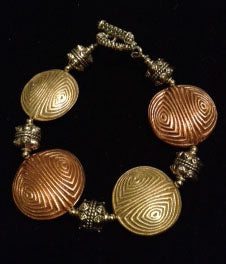 Copper, Bronze and Pewter Bracelet
