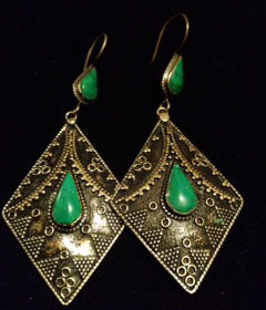 Malachite Green Diamond Shaped Exotics