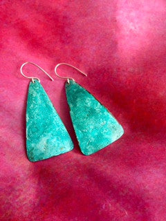 Hand Hammered Oxidized Metal Earrings