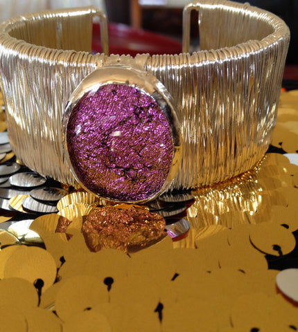 Passion Pink Dichroic Cuff