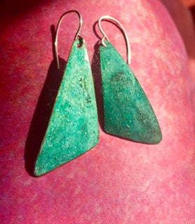 Hand Hammered Oxidized Metal Danglers