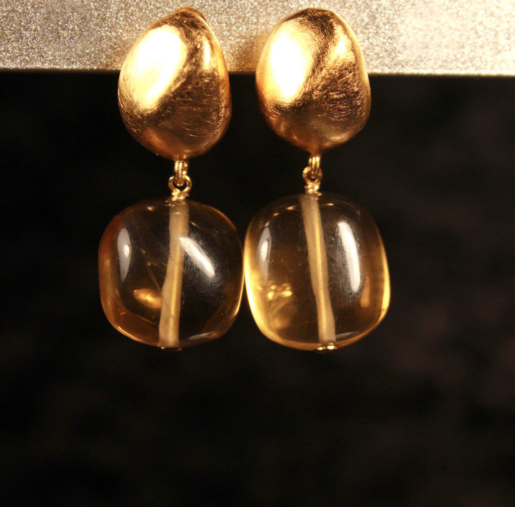 Matte Gold Vermeil Earrings
