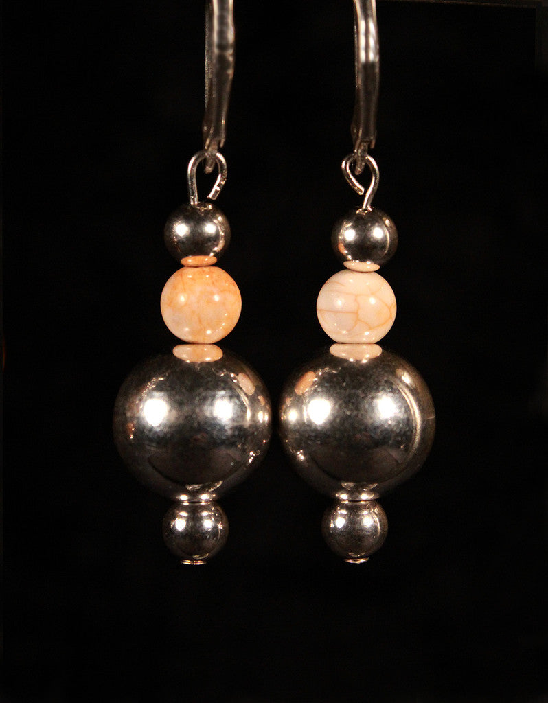 Sterling Silver Balls with Hematite