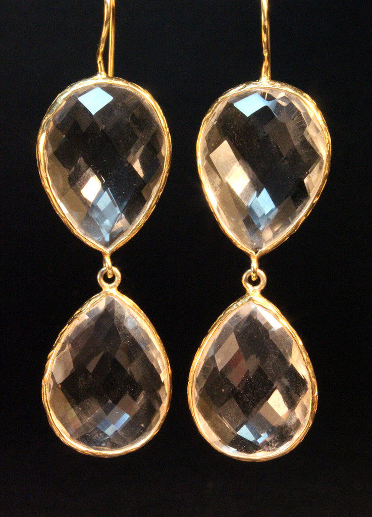 Crystal Double Teardrops