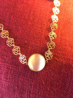 14K Rose Gold over Sterling Necklace