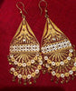 18K Gold Over Sterling  Long Chandelier Earrings