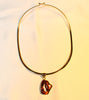 Natural Amber Pendant Necklace