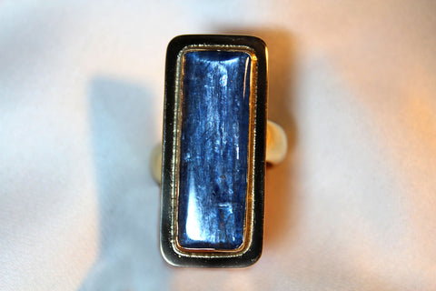Cobalt Kyanite  Ring