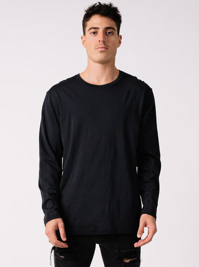 STAPLE PIMA LONG SLEEVE BLACK