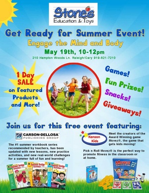 Kenson Kids will be Featured at Stones Educational and Toy Store Summer Event!