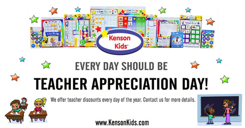 Kenson Kids offers discounts to teachers every day on every order!
