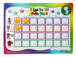 """I Can Do It!"" Potty Training Chart System by Kenson Kids"