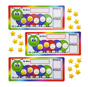 """I Can Do It!"" Token Board Caterpillar Incentive Chart (3 Pack) by Kenson Kids - Kenson Parenting Solutions"