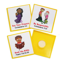 "Load image into Gallery viewer, ""I Can Do It!"" Reward Chart Supplemental Christian Living Pack by Kenson Kids - Kenson Parenting Solutions"