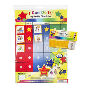 """I Can Do It"" My Daily Checklist/ Exercise Bundle by Kenson Kids"