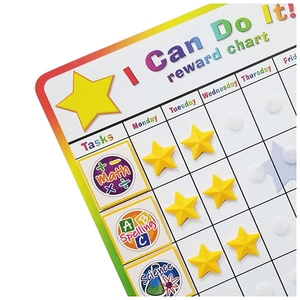 """I Can Do It!"" Reward Chart Supplemental School Subject Pack by Kenson Kids"