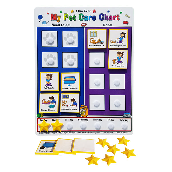 Kid Inspired Cat Care Chart by Kenson Kids - Kenson Parenting Solutions