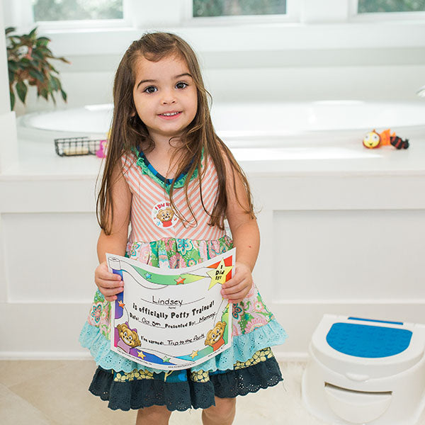 """I Can Do It!"" Potty Training Reward Chart with Static Cling Stars by Kenson Kids"