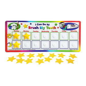 """I Can Do It!"" Tooth Brushing Chart by Kenson Kids - Kenson Parenting Solutions"