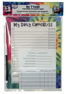 On Track! Responsibilty and Behavior Daily Checklist and Register (or add on for On Track System) - Kenson Parenting Solutions