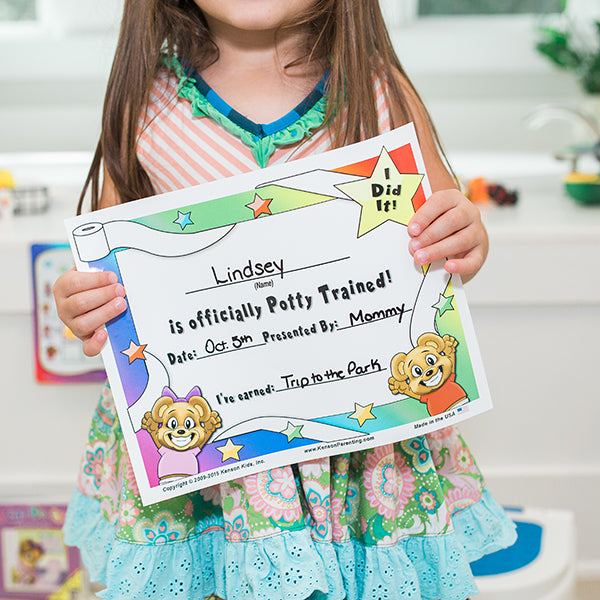 """I Did It"" Potty Training Certificate by Kenson Kids - Kenson Parenting Solutions"