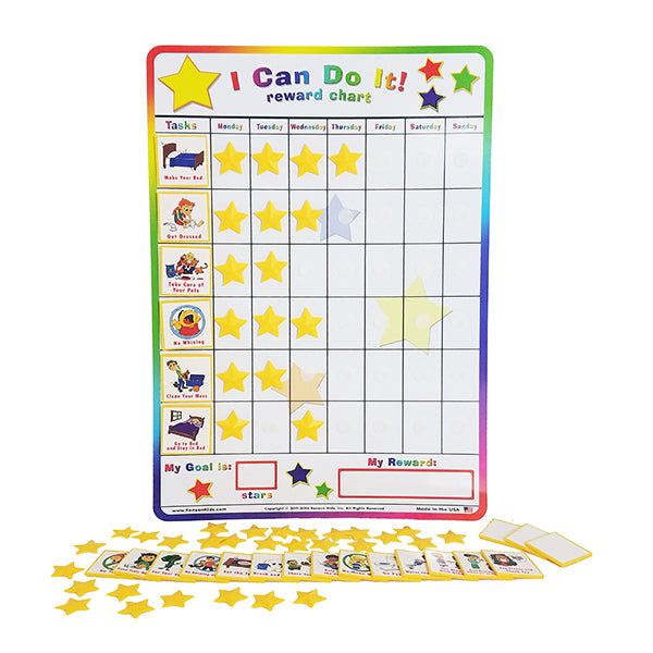 I Can Do It! reward chart Behavior Bundle by Kenson Kids