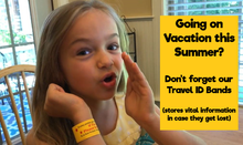 Load image into Gallery viewer, Safety Travel ID Bands by Kenson Kids