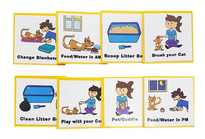 Kid Inspired Cat Care Chart by Kenson Kids