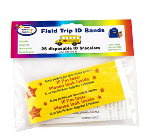 Field Trip Safety ID Bands by Kenson Kids