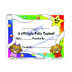 """I Did It"" Potty Training Certificate by Kenson Kids"