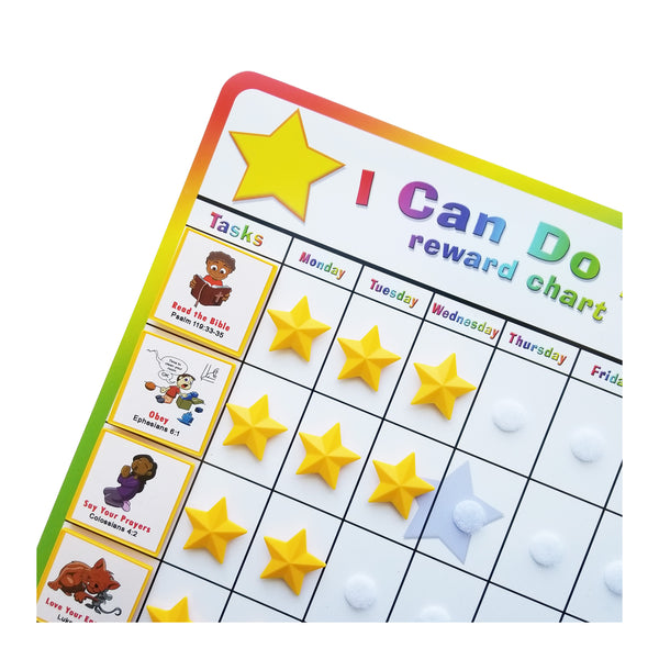 """I Can Do It!"" Reward Chart Supplemental Christian Living Pack by Kenson Kids - Kenson Parenting Solutions"