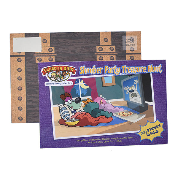 Slumber Party Treasure Hunt by Clued in Kids - Kenson Parenting Solutions
