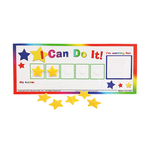 """I Can Do It!"" Star Token Board Incentive Chart by Kenson Kids - Kenson Parenting Solutions"