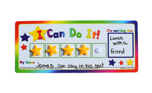 """I Can Do It!"" Token Board Classroom Incentive Charts (10 Pack, star) by Kenson Kids"
