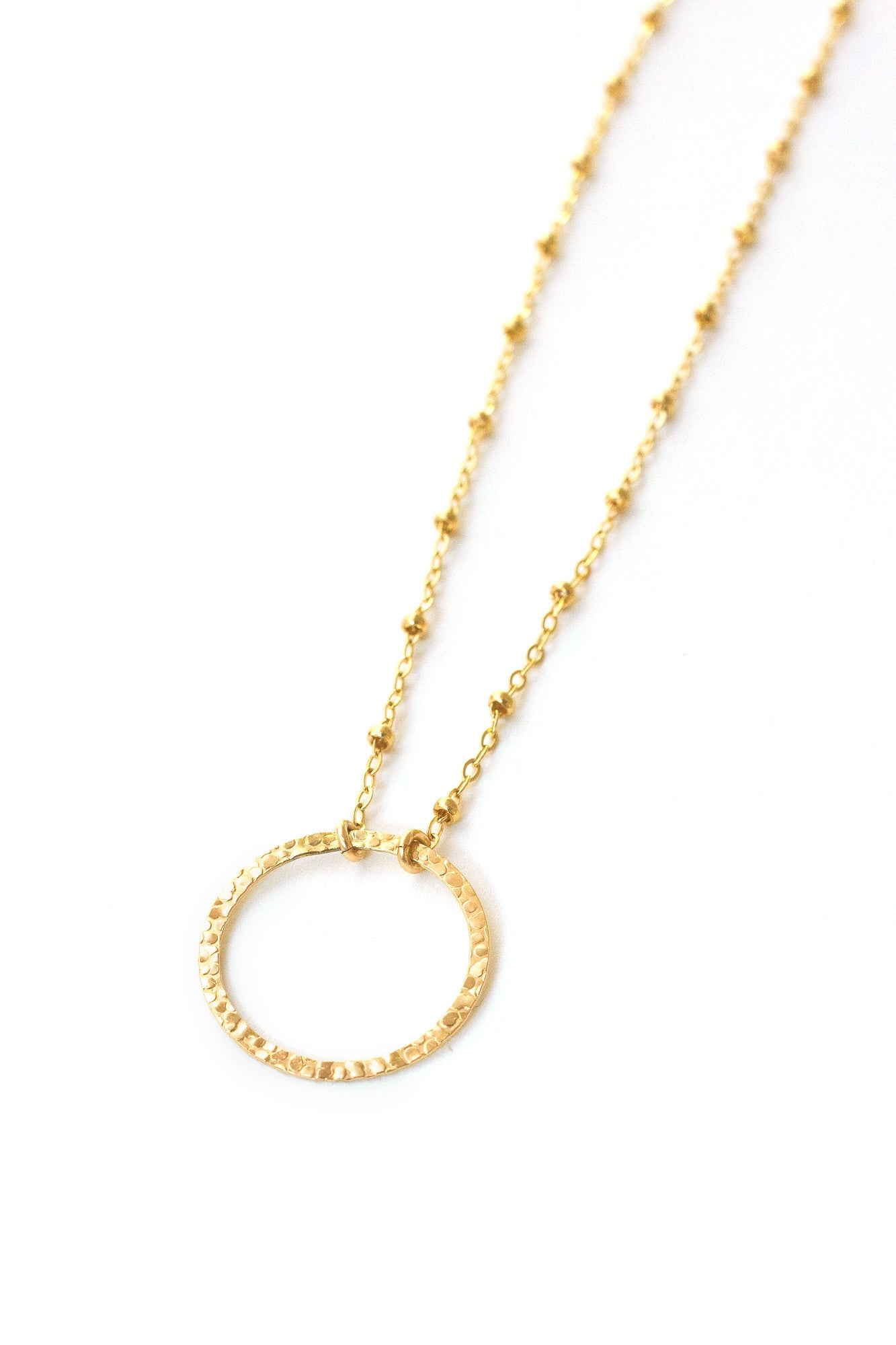 ginette large circle necklace