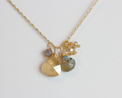 christine cluster necklace