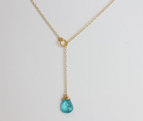 paigey loop lariat necklace