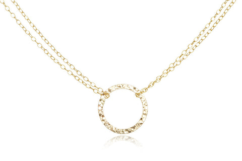 ginette circle necklace