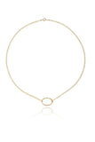 ginette large oval necklace