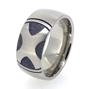 Custom Engraved Titanium Ring