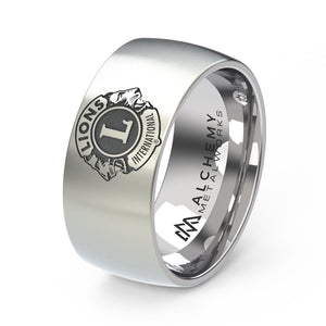 Laser Engraved Titanium Ring - Lions Clubs International, Personal