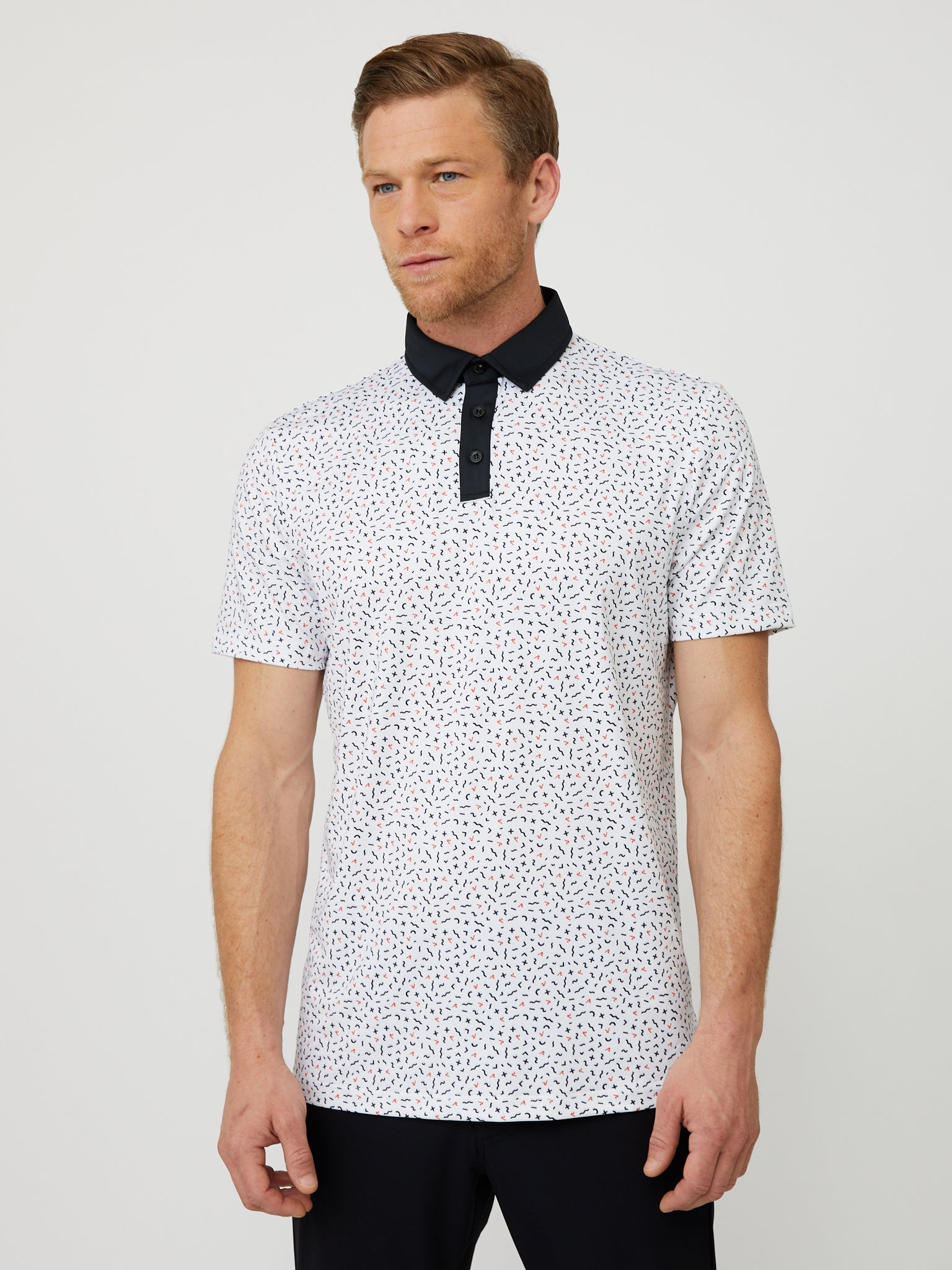 Stanley Polo in White/Multi
