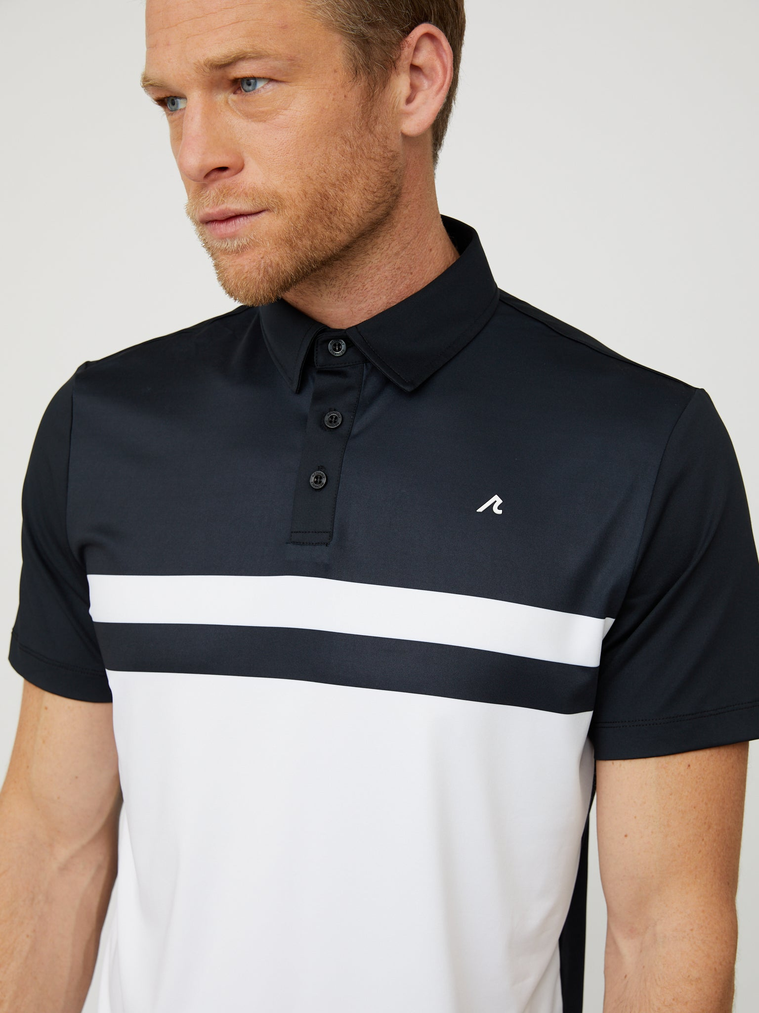 Danvers Polo in Black/White