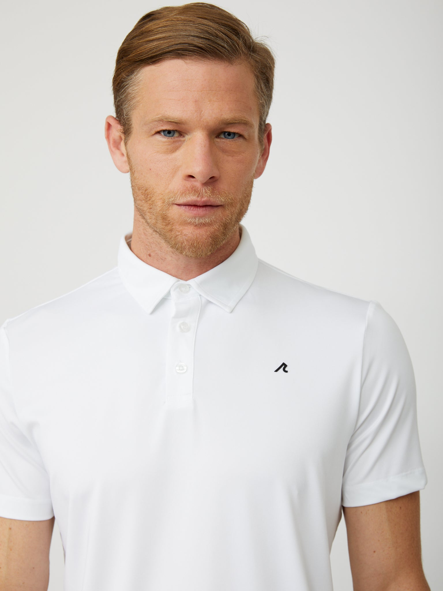 Degrom Polo in White/Black
