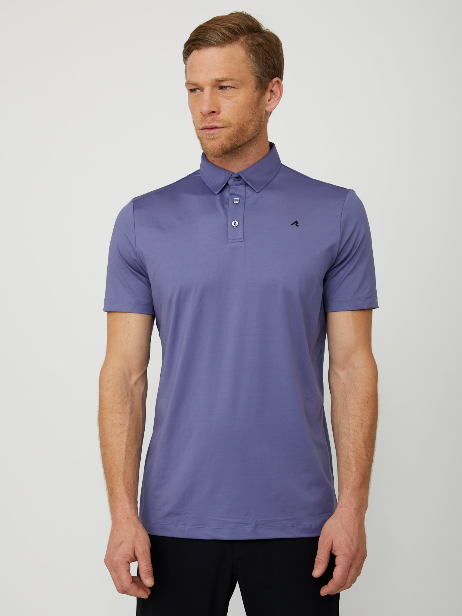 Degrom Polo in Heron/Black