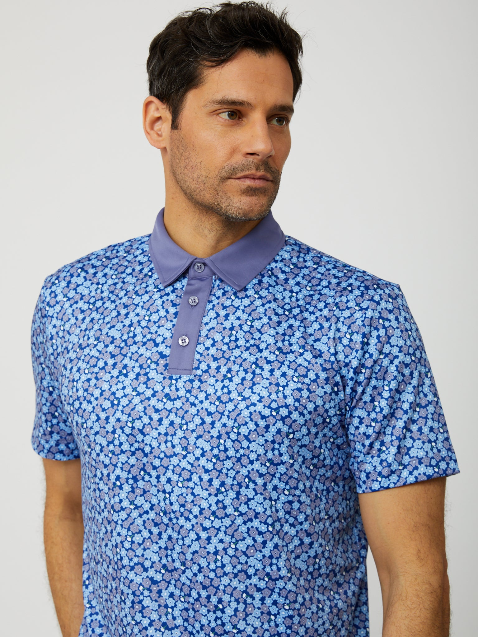 Fitch Polo in Reflex Blue/Multi