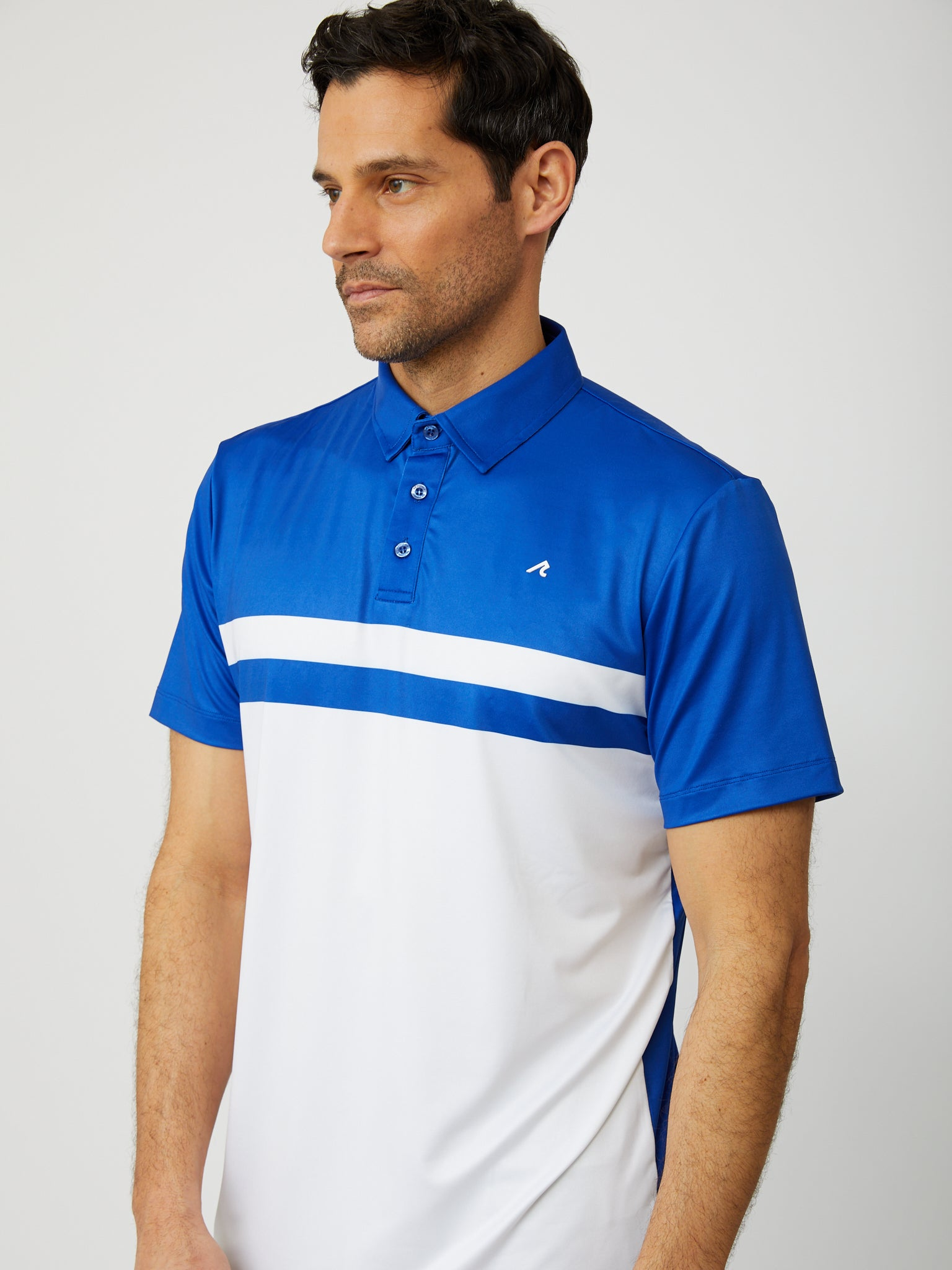 Danvers Polo in Reflex Blue/White